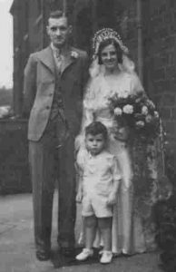 1935 Mum Dad Wedding with Wilfred