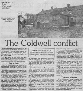 The Coldwell conflict Hudds Exam 1987-1